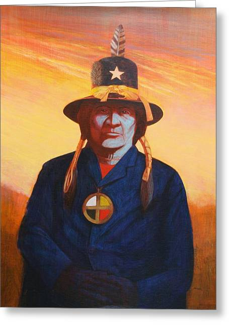 Tosh-a-wah,peneteka Comanche Chief Greeting Card by J W Kelly