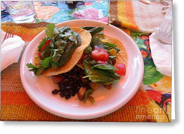 Greeting Card featuring the photograph Tostada Times Two by Marie Neder
