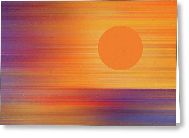 Total Eclipse Of The Heart Abstract Eclipse 2017 Greeting Card