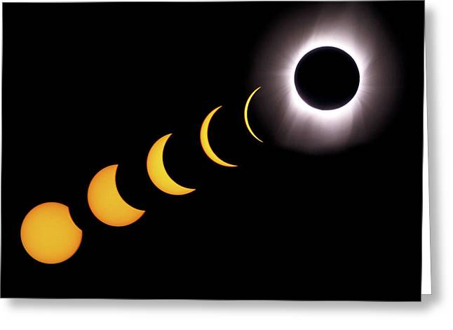 Total Eclipse Sequence, Aruba, 2/28/1998 Greeting Card