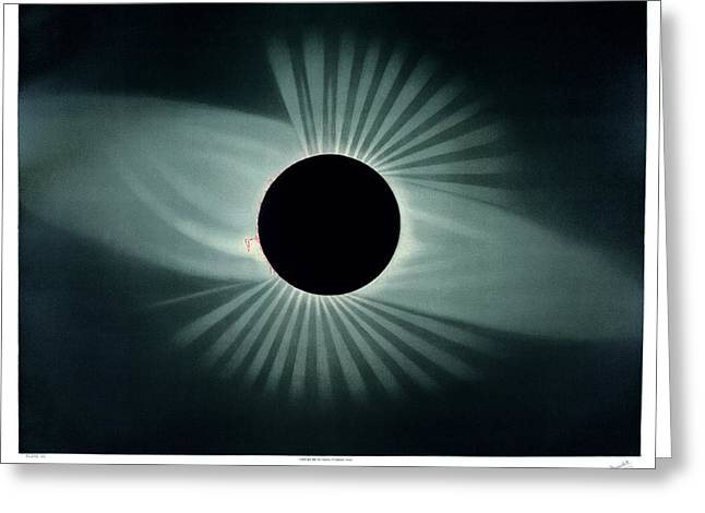 Total Solar Eclipse, 1878 Greeting Card by Science, Industry And Business Librarynew York Public Library