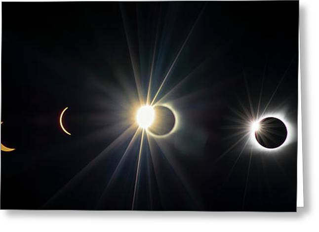 Total Solar Eclipse Sequence Greeting Card