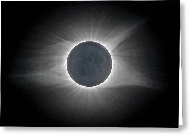 Greeting Card featuring the photograph Total Solar Eclipse With Corona by Lori Coleman