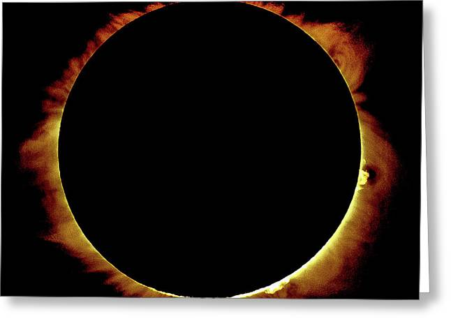 Totality Over Processed Greeting Card