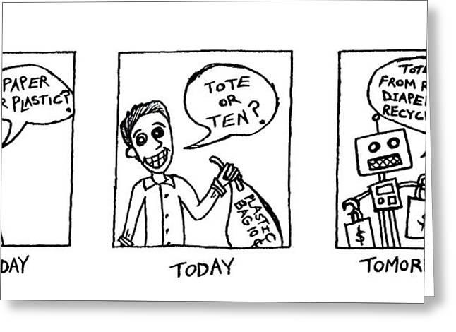 Tote Or Ten Greeting Card