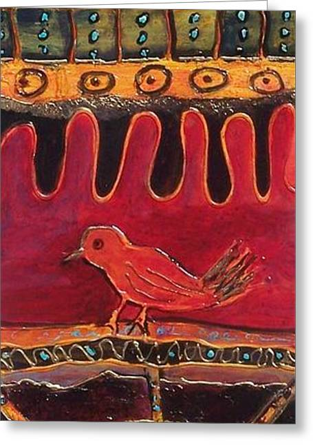 Totem Greeting Card by Donna Frost