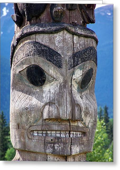 Totem Greeting Card by Marty Koch