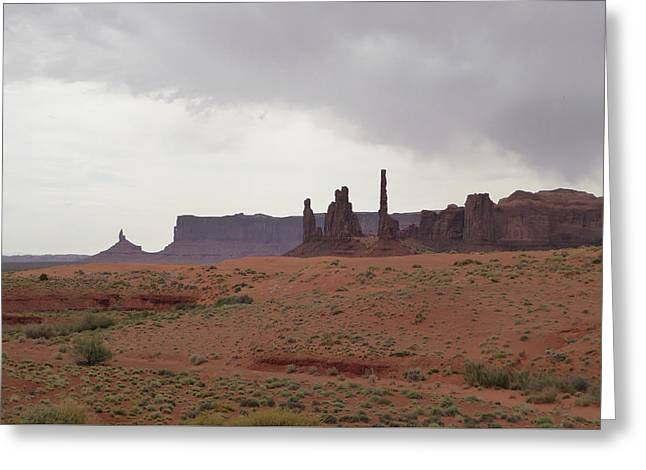 Totem Pole, Monument Valley Greeting Card by Gordon Beck