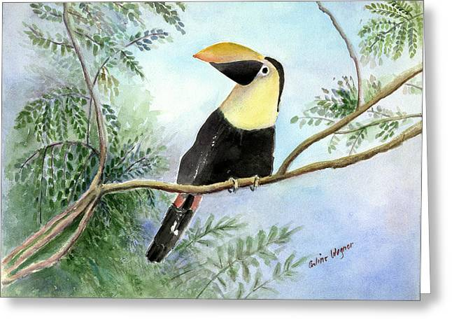 Toucan Greeting Card by Arline Wagner