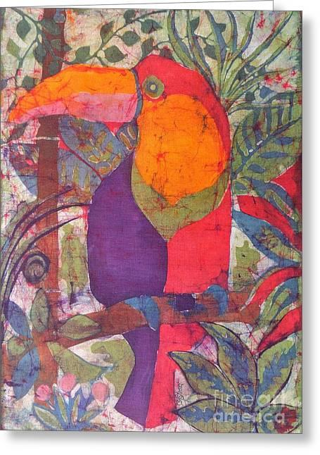 Toucan Batik Greeting Card