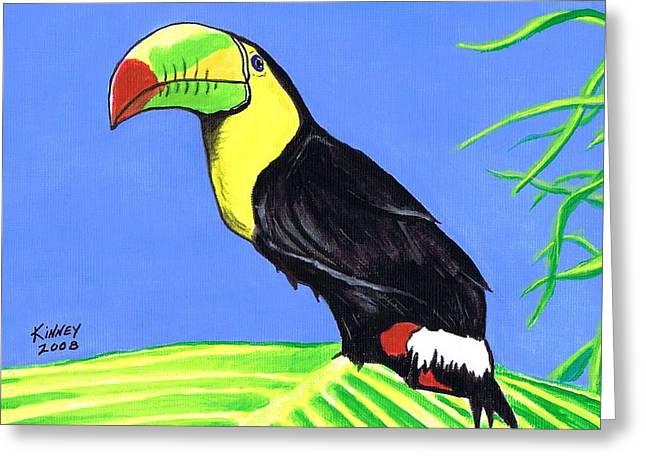 Toucan Bird Greeting Card by Jay Kinney