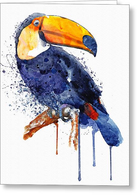 Toucan Greeting Card by Marian Voicu
