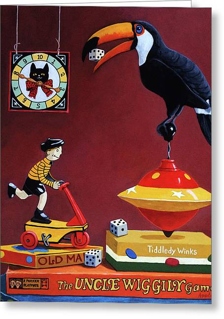 Toucan Play At This Game Greeting Card by Linda Apple