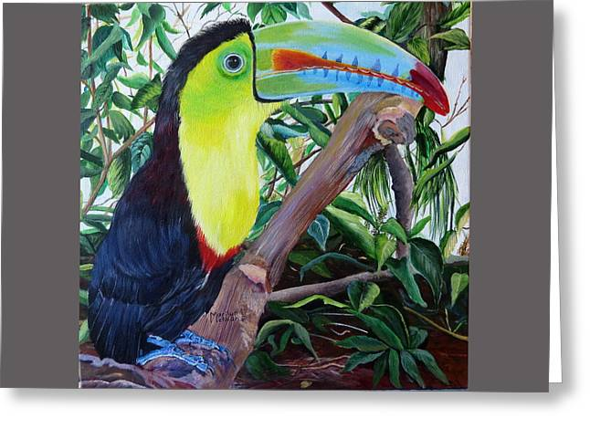 Toucan Portrait Greeting Card by Marilyn McNish