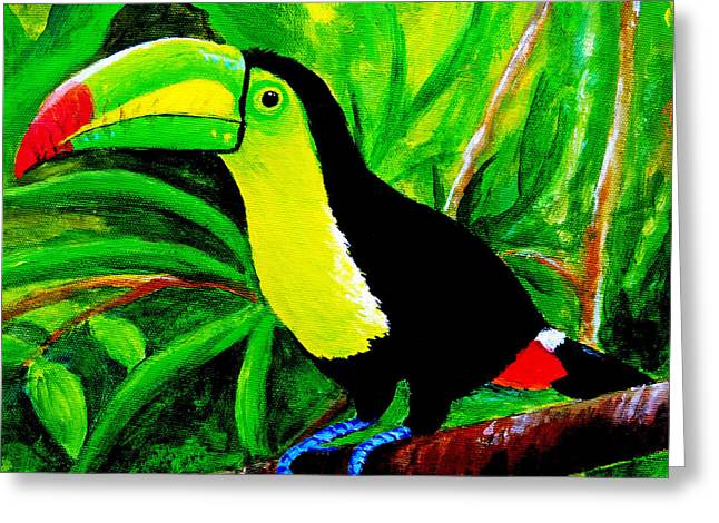 Toucan Sam Greeting Card by Anne Marie Brown
