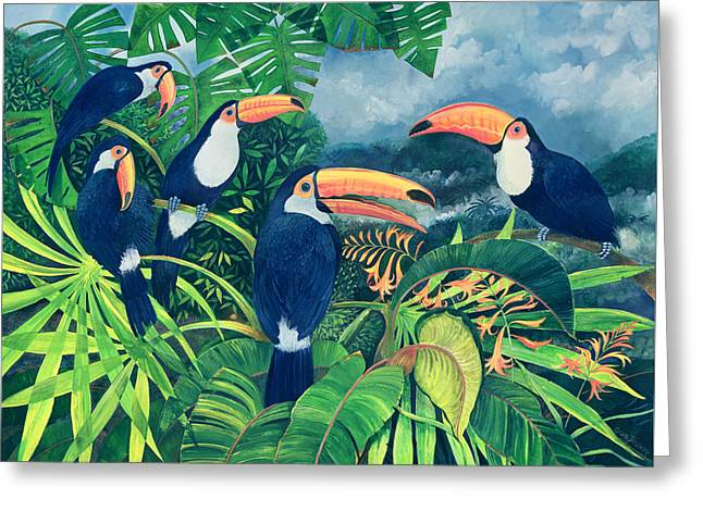 Toucan Talk Greeting Card by Lisa Graa Jensen