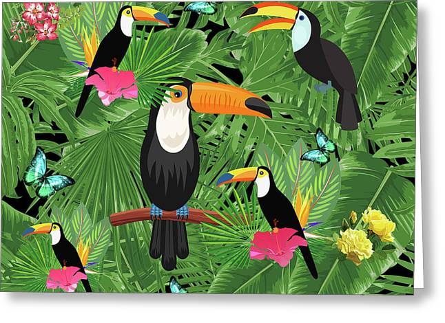 Toucan Tropic  Greeting Card by Mark Ashkenazi