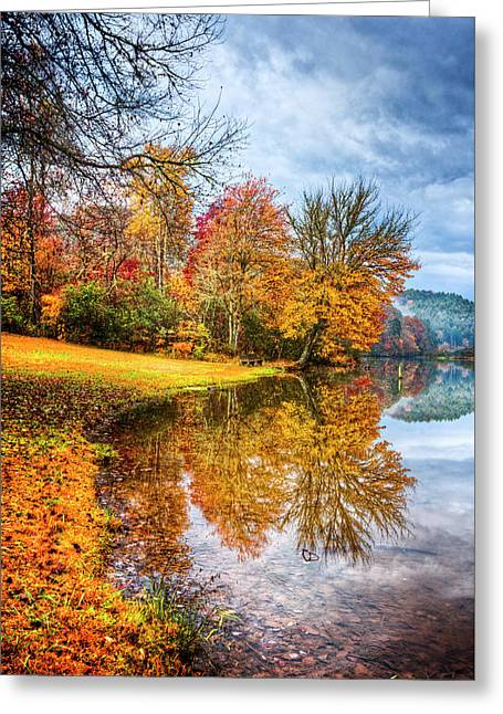 Touch Of Autumn Greeting Card by Debra and Dave Vanderlaan