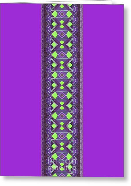 Touch Of Color - Green And Purple Variation Greeting Card