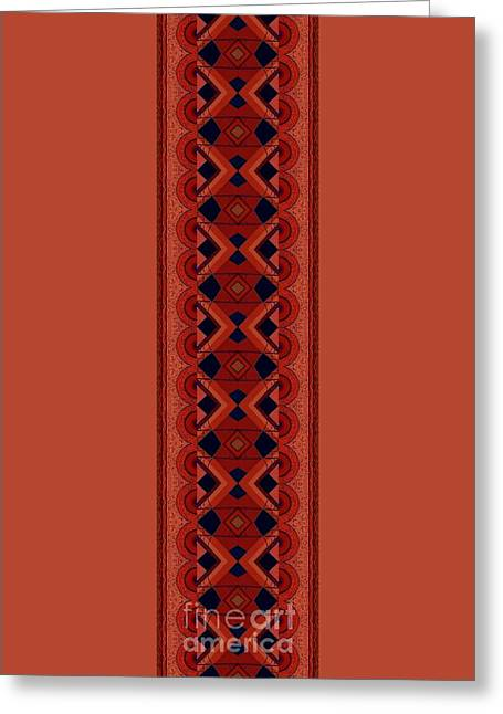 Touch Of Color - Red And Purple Variation Greeting Card