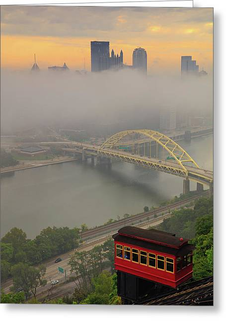 Touch Of Fog  Greeting Card