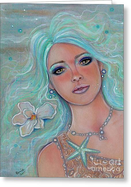 Touch Of Spring Mermaid Greeting Card by Renee Lavoie