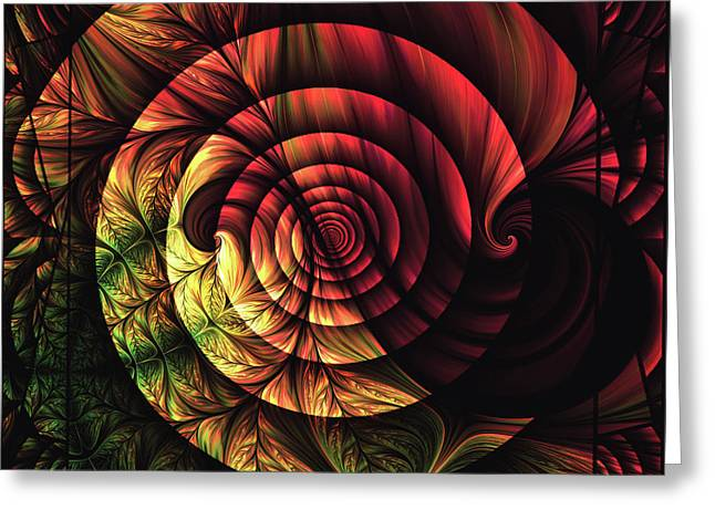 Touch Of Sunshine Abstract Greeting Card by Georgiana Romanovna