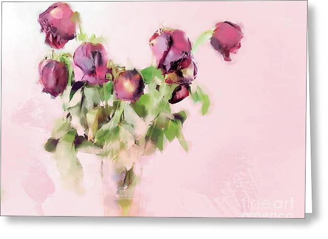 Greeting Card featuring the mixed media Touchable by Betty LaRue