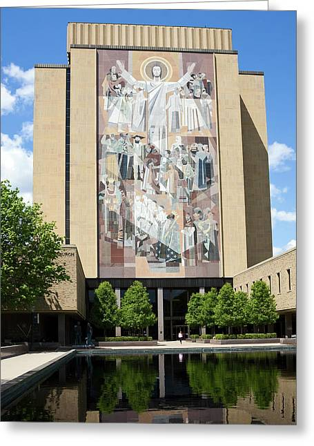 Touchdown Jesus Mural Greeting Card by Sally Weigand