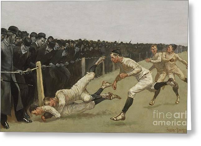 Touchdown, Yale Vs. Princeton, Thanksgiving Day, Nov 27th 1890 Greeting Card