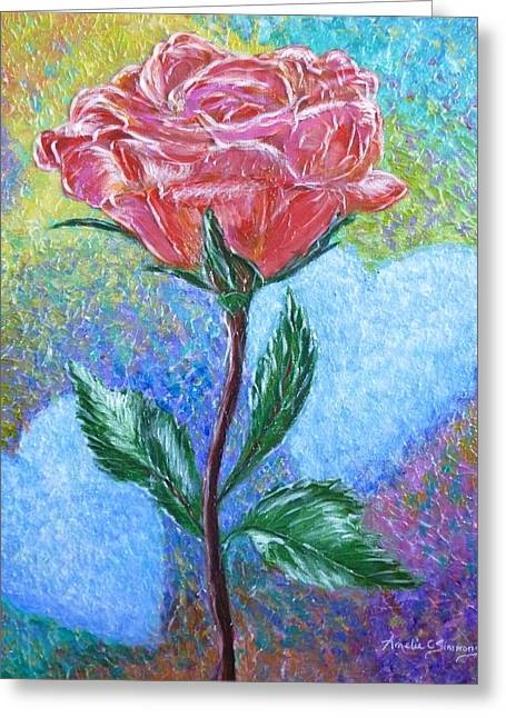 Touched By A Rose Greeting Card