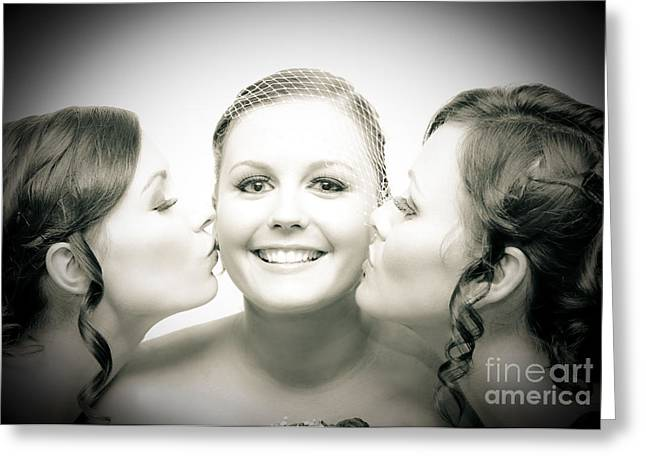 Touching Display Of Wedding Affection Greeting Card by Jorgo Photography - Wall Art Gallery