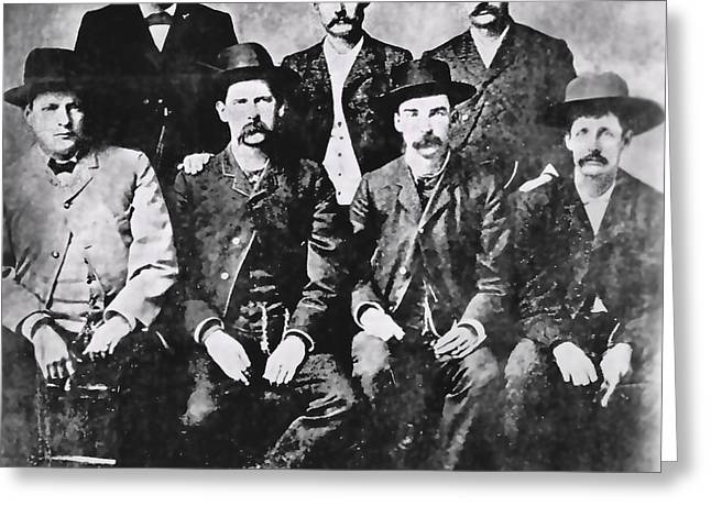 Tough Greeting Cards - TOUGH MEN of the OLD WEST Greeting Card by Daniel Hagerman