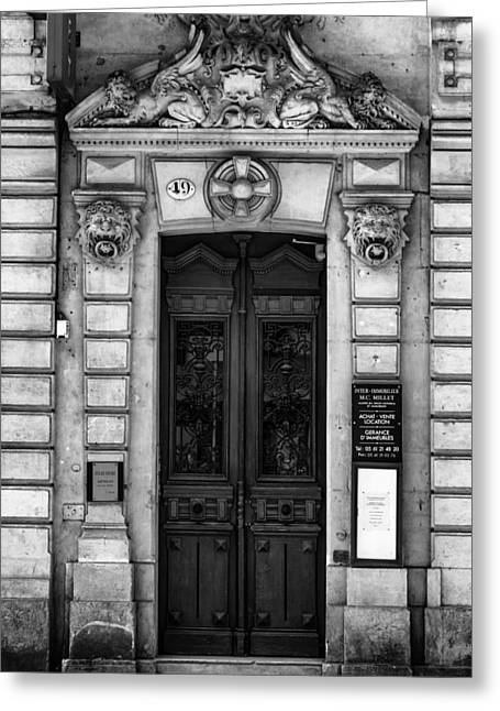 Toulouse Door In Mono Greeting Card