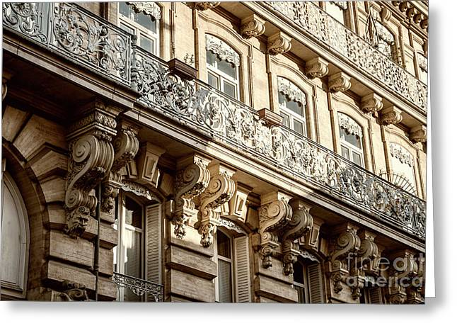 Toulouse Facade Greeting Card by Elena Elisseeva