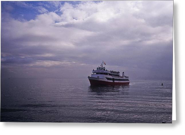 Tour Boat San Francisco Bay Greeting Card