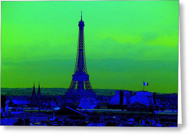 Tour Eiffel Greeting Card by Aline Kala
