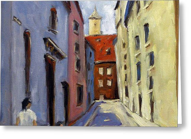 Tour Of The Old Town Greeting Card by Richard T Pranke
