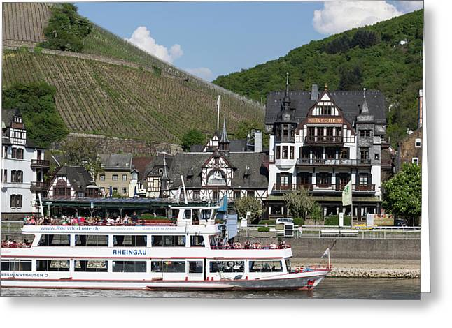 Tourism Along The Rhine Greeting Card