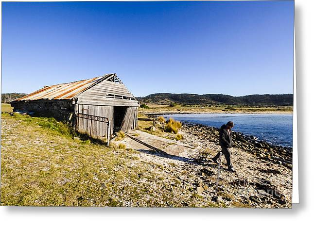 Tourist In East Coast Tasmania Greeting Card