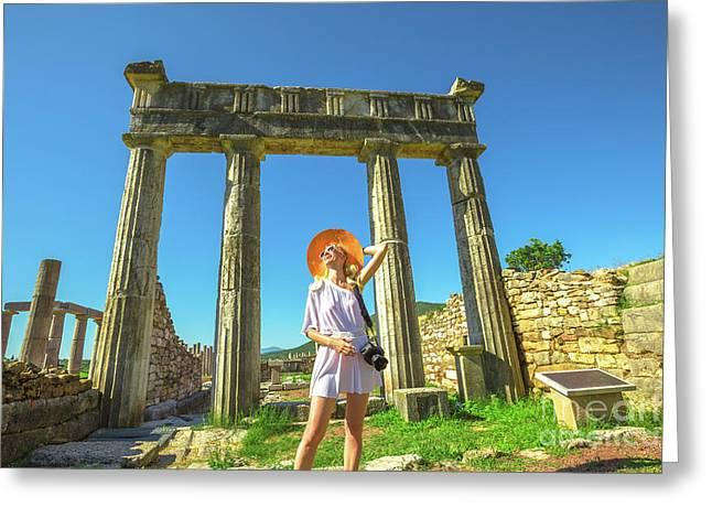 Tourist Traveler Photographer Greeting Card