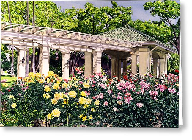 Tournament Of Roses Greeting Card by David Lloyd Glover