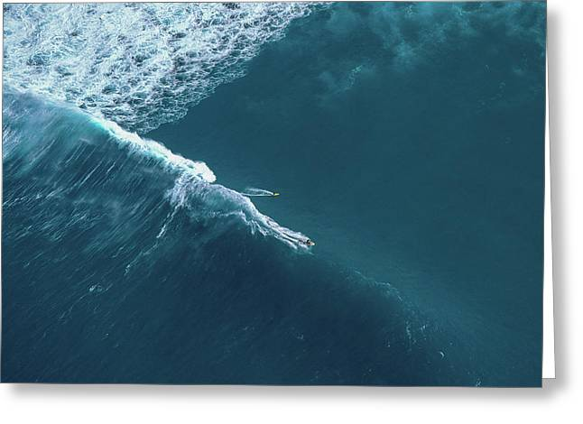 Tow Surf - Sunset Beach Greeting Card by Sean Davey