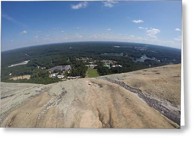 Towards Atlanta Georgia From The Top Of Granite Mountain Greeting Card