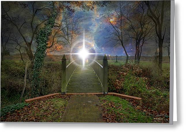 Towards The Light Greeting Card by Brian Wallace