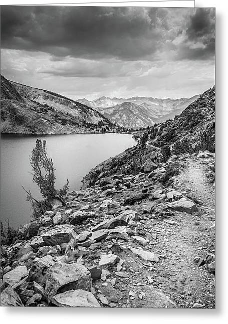 Greeting Card featuring the photograph Towards The Silver Divide by Alexander Kunz