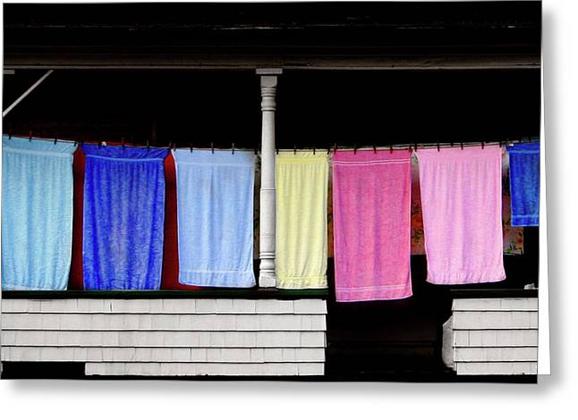 Towel Line Stark New Hampshire Greeting Card