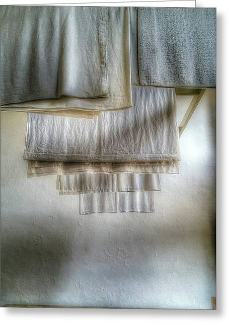 Towels And Sheets Greeting Card