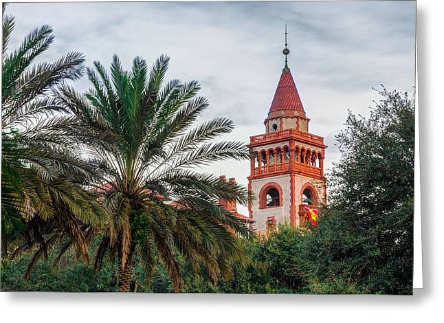 Tower At Flagler College Greeting Card by Rob Sellers