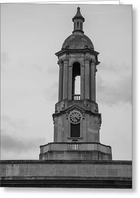 Tower At Old Main Penn State Greeting Card